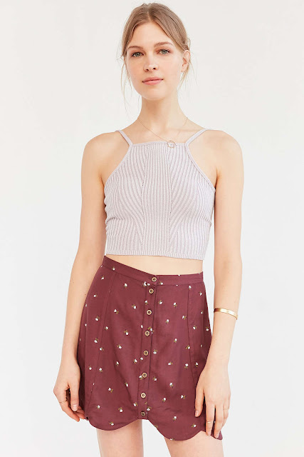 Urban Outfitters vintage style button down skirt