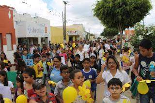 Caminhada marcou culminância das atividades de combate à exploração sexual em Cuité
