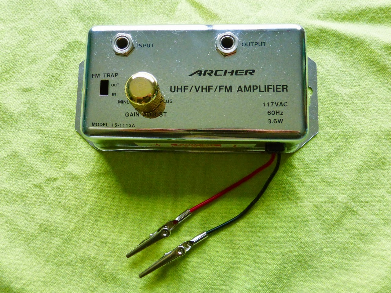 custom cap, capacitor test box, vintage, Archer antenna booster, case, clips, Tele. Telecaster knob.