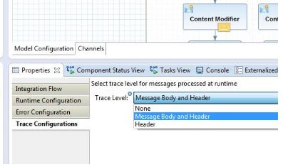 Configuration og tracing in SAP HANA Cloud Integration