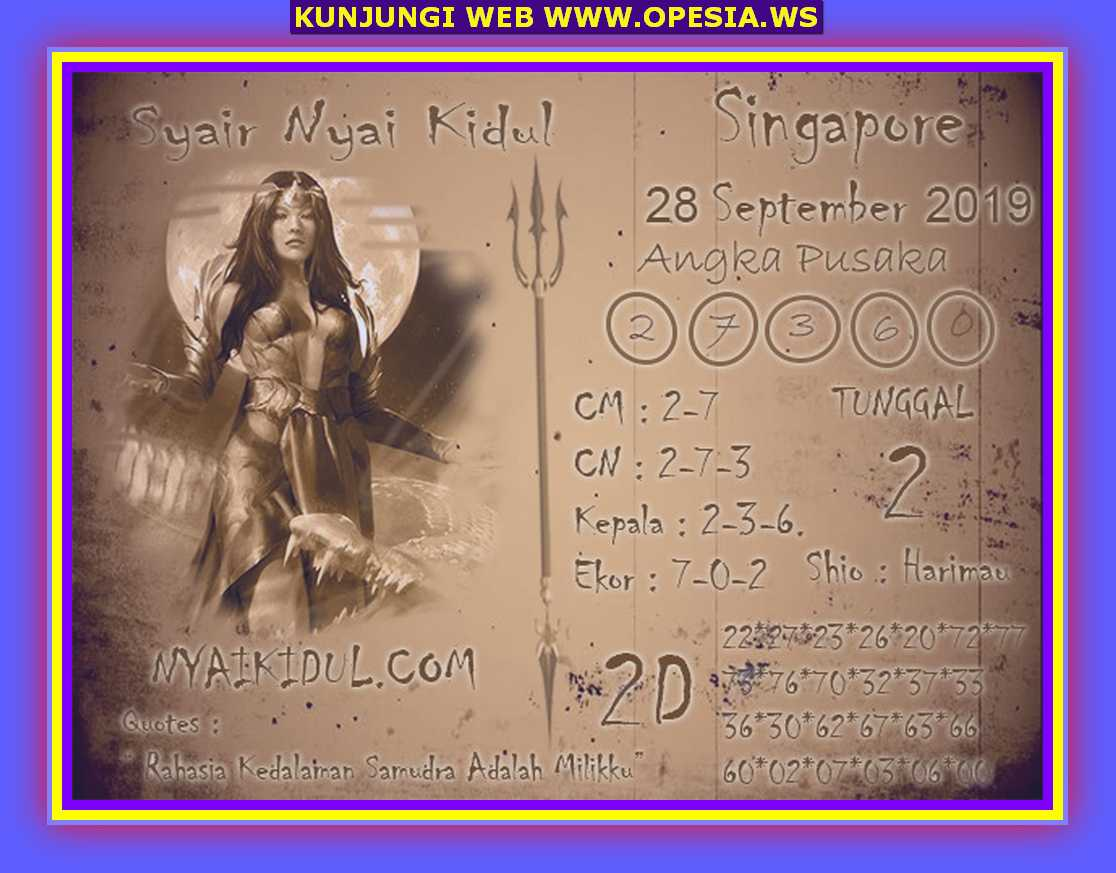 Syair sgp Sabtu 28 September 2019 34