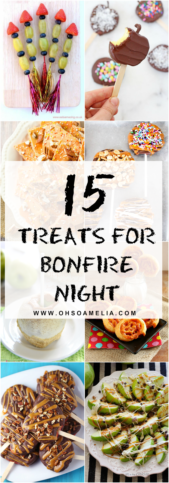 Throwing a Bonfire night party or want to make some treats for the little ones? Take a look at these 15 treat ideas for all the family