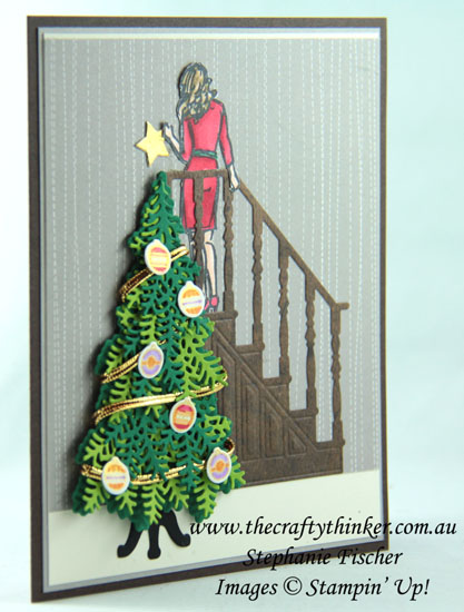 #thecraftythinker #stampinup #christmascard #xmascard #cardmaking , Ready for Christmas, Wonderful Moments, Christmas card, Xmas, Stampin' Up Australia Demonstrator, Stephanie Fischer, Sydney NSW