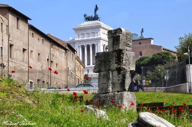 Roma, vista dal Teatro di Marcello verso l'Altare della Patria