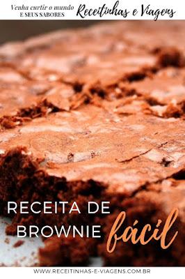 como fazer brownie facil