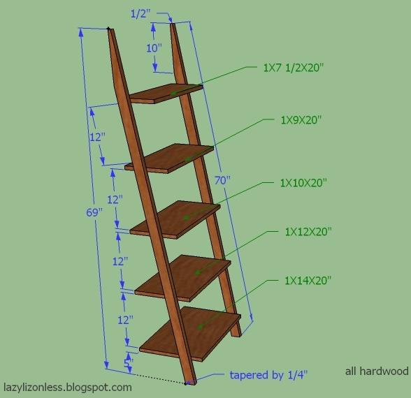 Diy Wooden Plant Stand Ladder Shelves