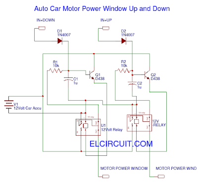 Auto Car Motor Power Window Circuit