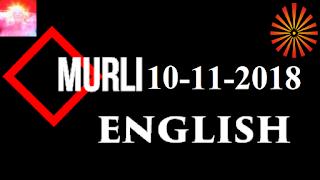 Brahma Kumaris Murli 10 November 2018 (ENGLISH)