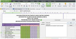 Sel Spreadsheet dan Excel