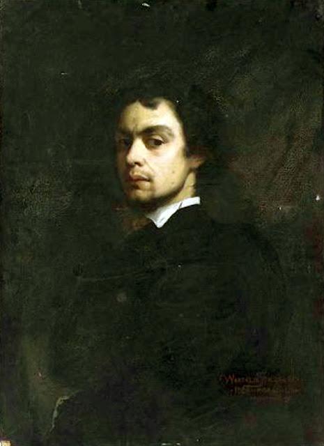Wandalin Strzałecki, Self Portrait, Portraits of Painters, Fine arts, Portraits of painters blog, Paintings of Wandalin Strzałecki, Painter Wandalin Strzałecki