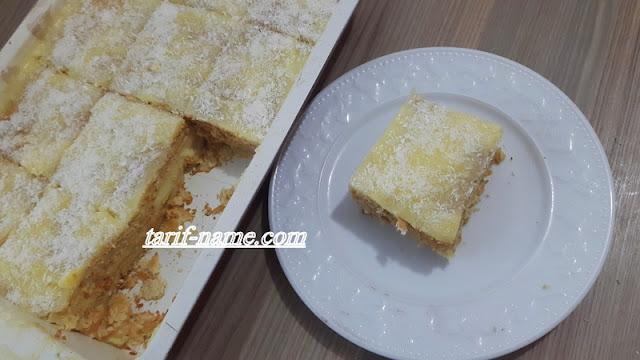 Hindistan cevizli kremali bisküvili pasta
