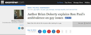 Brian Doherty Ron Paul gay issues