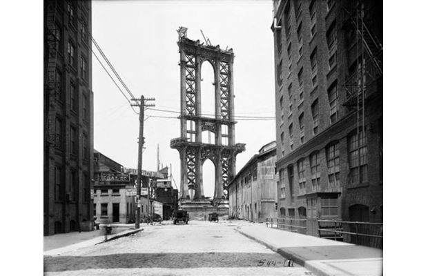 Manhattan Bridge in Progress