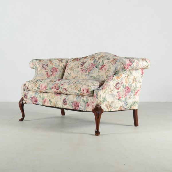 chintz settee English country cottage sofa loveseat