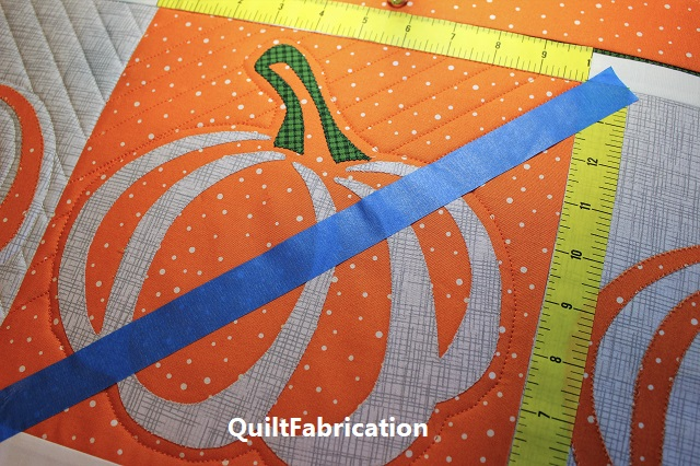 quilting using inch marked tape