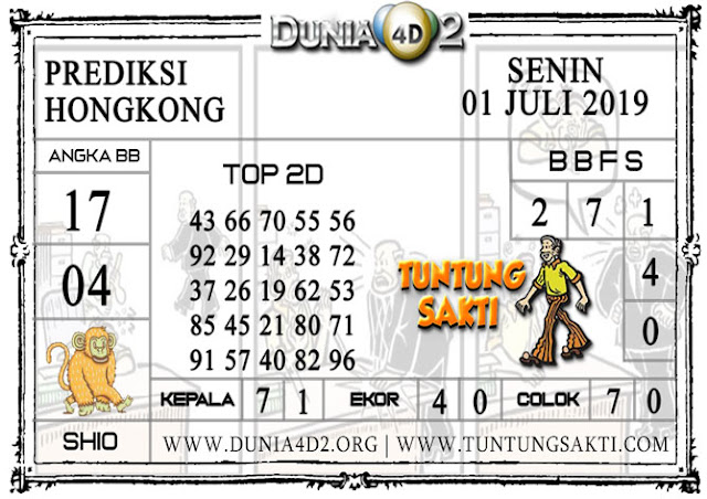 "Prediksi Togel ""HONGKONG"" DUNIA4D2 01 JULI  2019"