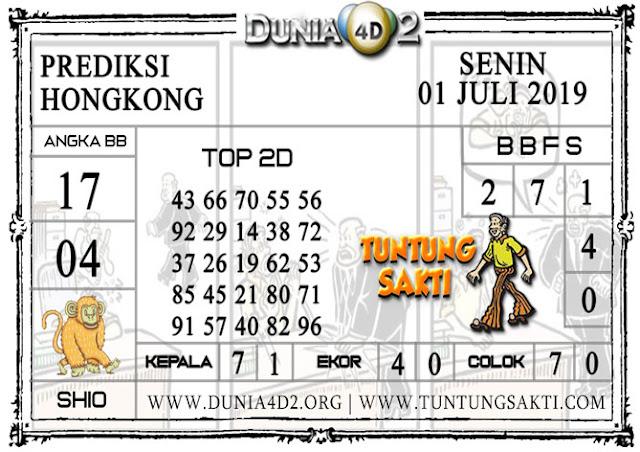 """Prediksi Togel """"HONGKONG"""" DUNIA4D2 01 JULI 2019"""