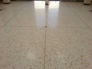 Cleaned and Polished Travertine Floor by Orlando Stone Works