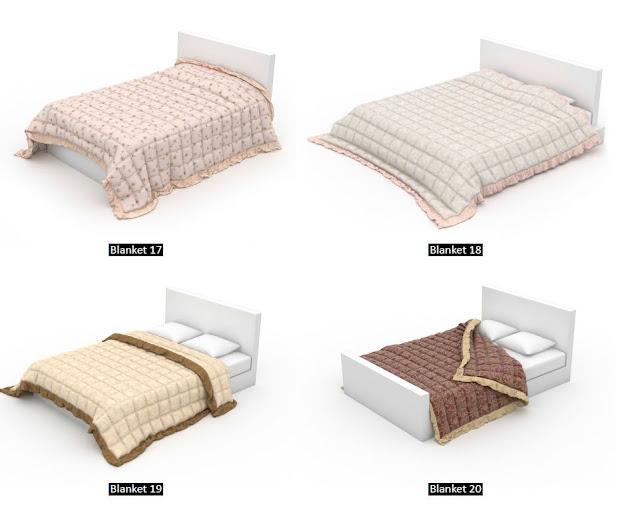 3dsMax高精度被子枕頭3D模型下載