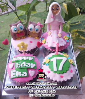 Cupcake Burung Hantu Lucu