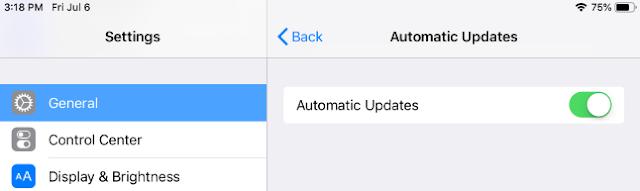 mematikan pembaruan otomatis di iphone atau ipad- automatis updates