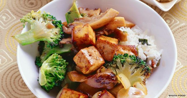 Grilled Tofu With Rice Recipe