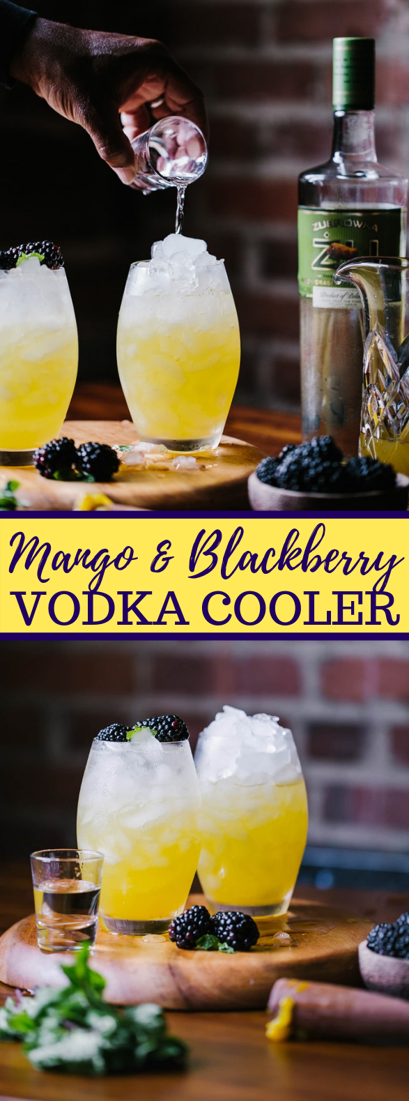 MANGO AND BLACKBERRY VODKA COOLER #drink #cocktail
