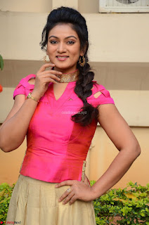 Ashmita in Pink Top At Om Namo Venkatesaya Press MeetAt Om Namo Venkatesaya Press Meet (70).JPG