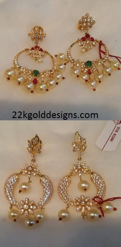 Chandbali Earrings in Light Weight