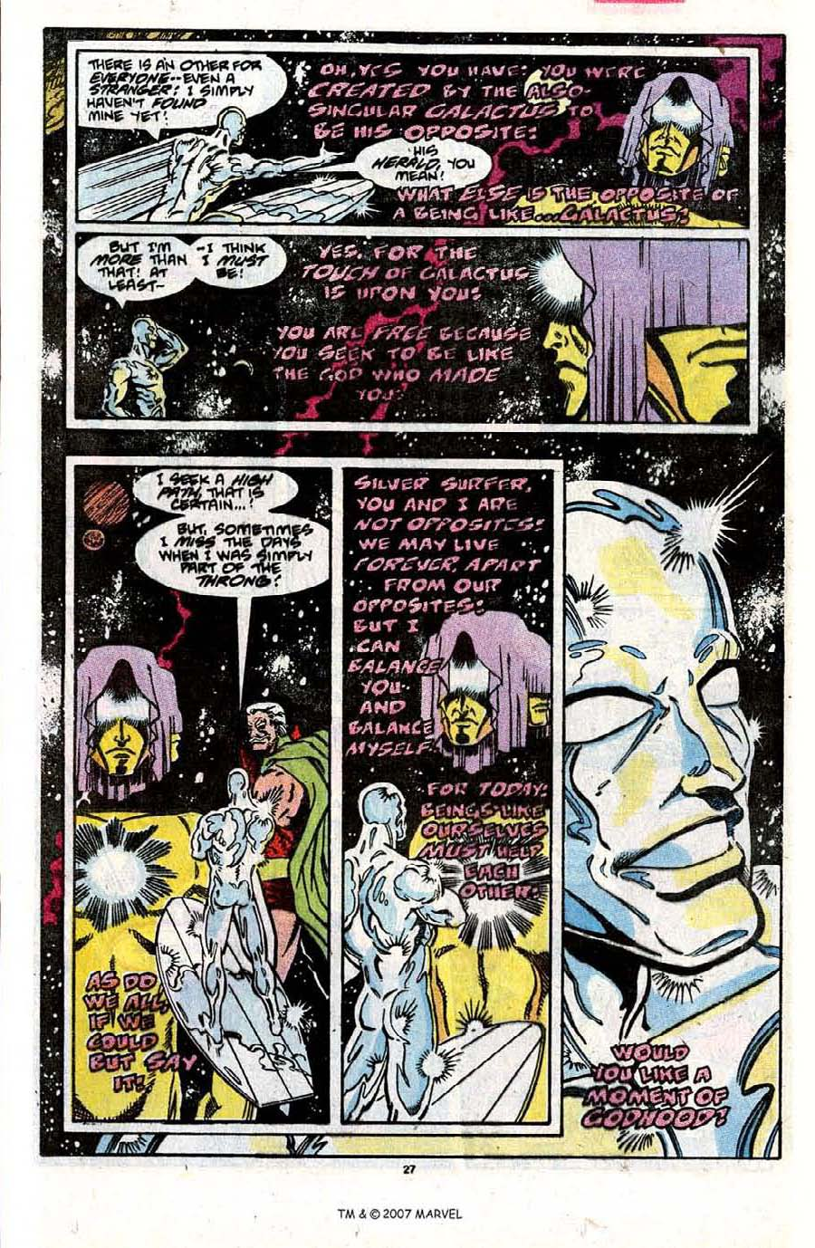 Read online Silver Surfer (1987) comic -  Issue #31 - 29