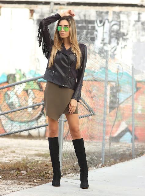 0bc0a301e2e5 Jacket  Hale Bob (Similar and Under  30!)  Macy s    Dress  Twenty Tees     Sunglasses  Ray-Ban    Boots  (Similar) Nordstrom