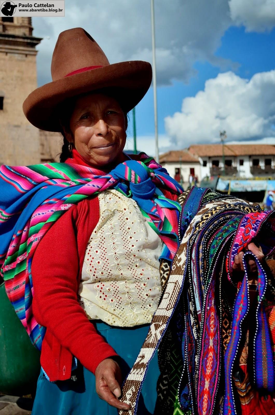 db5a53852 Artesã na Plaza de Armas de Cuzco - Peru.
