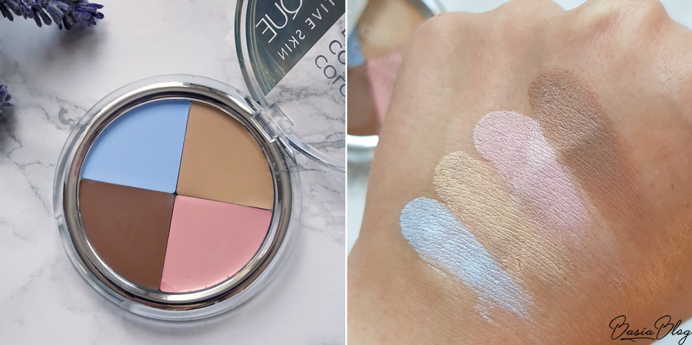 paleta kolorowych korektorów w kremie Sensique Sensique Sensitive Skin Color Correcting Palette, niebieski korektor, różowy korektor, morelowy korektor, beżowy korektor, brązowy korektor do konturowania na mokro