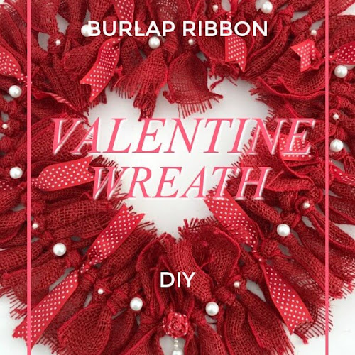 DIY Burlap Rag Wreath For Valentine's Day