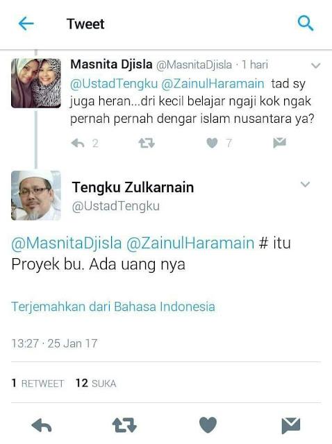 Ngawur, Ustad Tengku Zulkarnain Tuduh Islam Nusantara Itu Proyek Ada Uang
