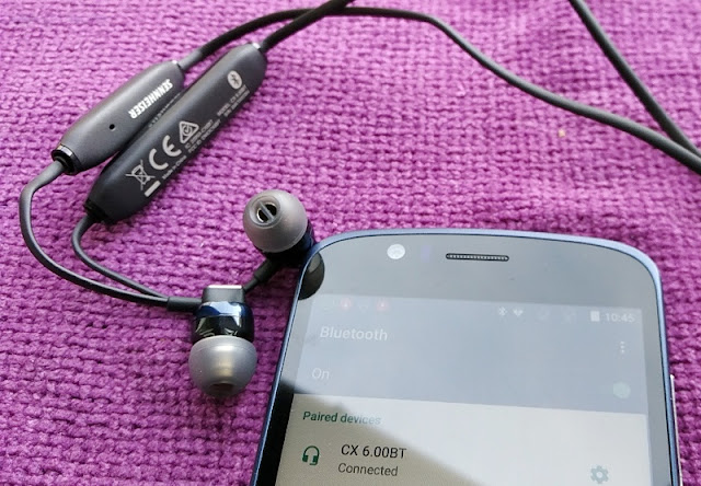 afe69d6e18c466 As mentioned earlier, the CX 6.00BT earphones are wireless so instead of  plugging into the 3.5mm audio socket of your phone you pair them via  Bluetooth ...