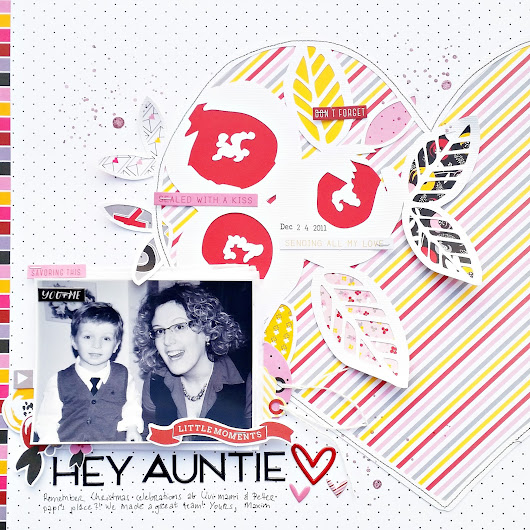 Hey Auntie - DT layout for Fancy Pants Designs