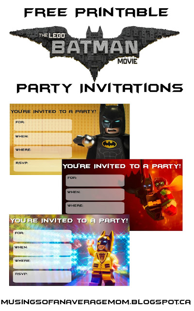 lego batman movie invitations