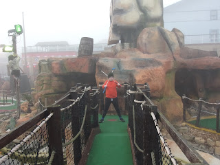 pirate golf in foggy conditions portsmouth