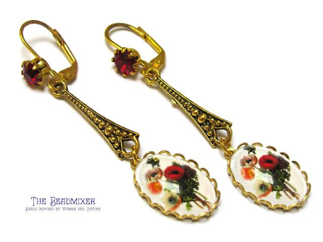 Vintage stijl gouden oorbellen