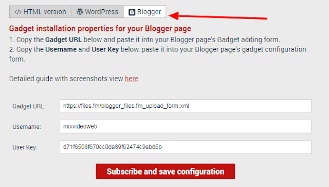 Create file upload page in your site