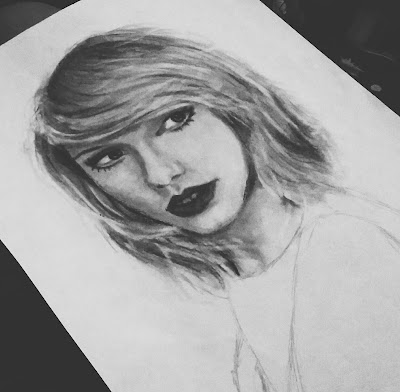 Taylor Swift Sketch Pencil Drawing Art