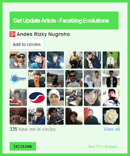 Pop Up Widget Google+ Follower