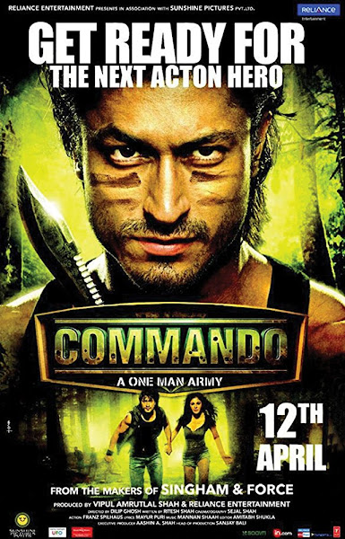 Poster of Commando 2013 Full Movie [Hindi-DD5.1] 720p DVDRip ESubs Download