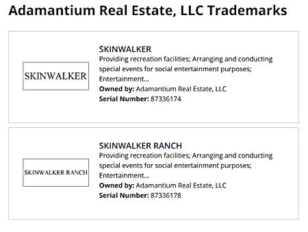 Trademark Filing for Skinwalker Ranch