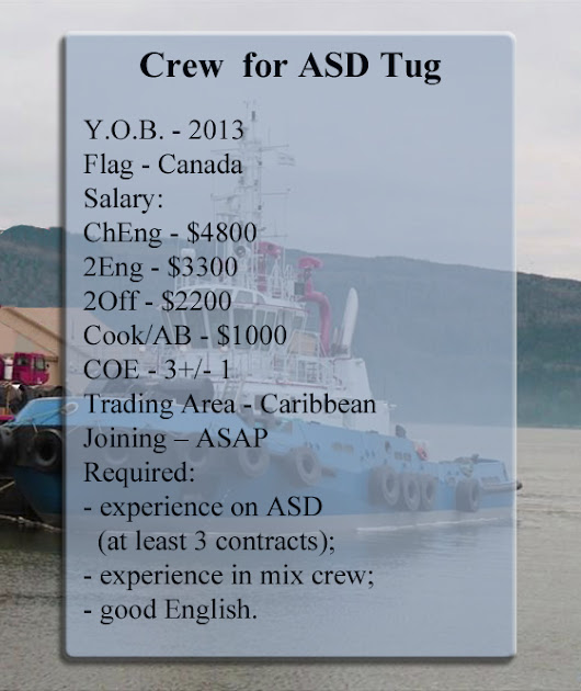 Crew for ASD Tug