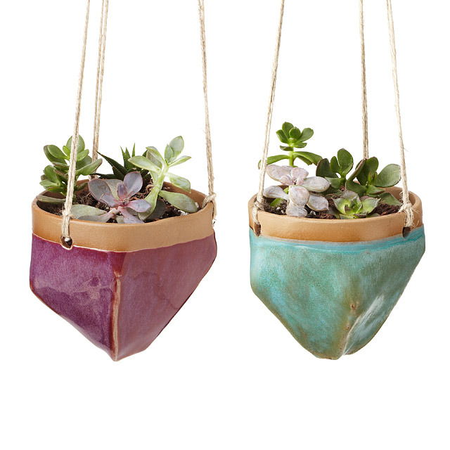 14 Ways to Display Succulents - Jewel Toned Hanging Planters