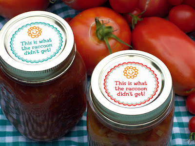 funny canning labels
