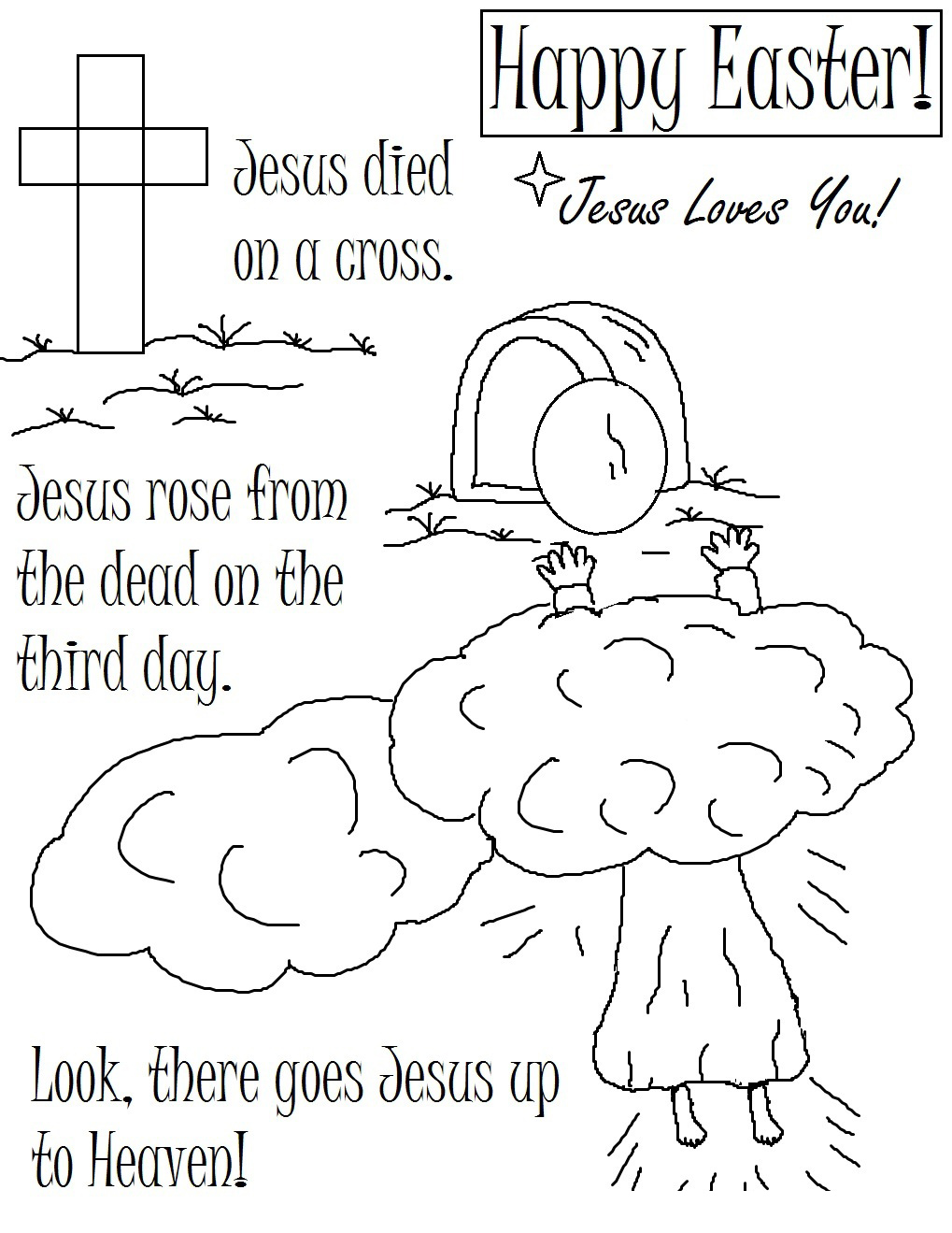 Free Free Printable Easter Coloring Pages Religious, Download Free ... | 1319x1019