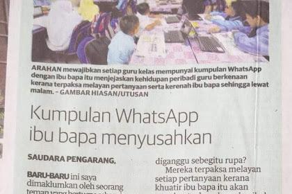 Group Whatsapp Ibu Bapa Menyusahkan???